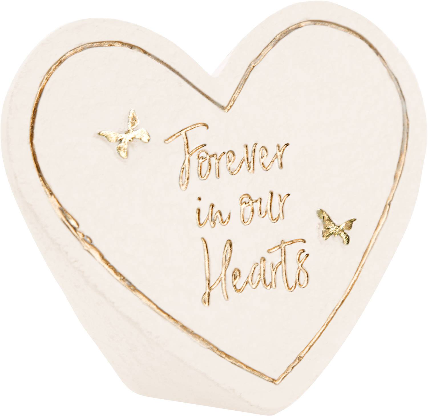"Forever by Forever in our Hearts - Forever - 3.5"" x 3"" Heart Memorial Stone"