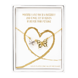 "Whispers by Forever in our Hearts - 16""-18""  Butterfly Memorial  Necklace"