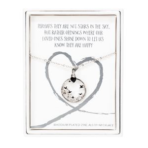 "Stars in the Sky by Forever in our Hearts - 16""-18"" Star  Memorial  Necklace"