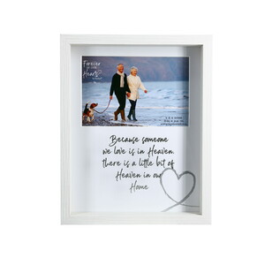 "Heaven by Forever in our Hearts - 7.5"" x 9.5"" Shadow Box Frame (Holds 6"" x 4"" Photo)"