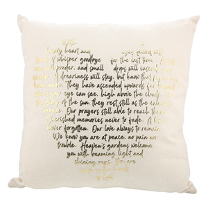 "In God's Hands by Forever in our Hearts - 18"" Pillow"