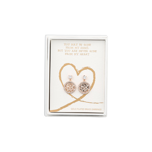 Heart by Forever in our Hearts - Gold Butterfly Dangle Earrings