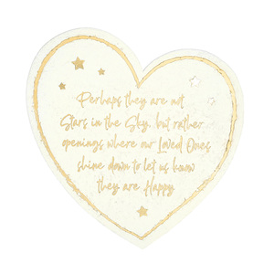 "Stars in the Sky by Forever in our Hearts - 11"" Heart Garden Stone"