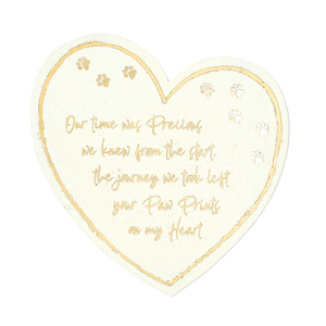 "Paw Prints by Forever in our Hearts - 11"" Heart Garden Stone"