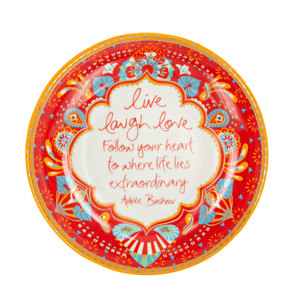 "Live Laugh Love by Intrinsic - 4.25"" Trinket Dish"