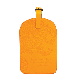 Marigold by Intrinsic - Gift Boxed Vegan Leather Luggage Tag