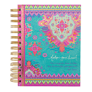 "Follow Your Heart by Intrinsic - 7.5"" x 5.75"" Spiral Notebook"