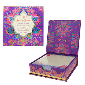"Beautiful Friend by Intrinsic - 5.25"" x 5.25"" x 1.75"" Note Box"