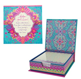 "Follow Your Heart by Intrinsic - 5.25"" x 5.25"" x 1.75"" Note Box"