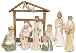 Gentle Souls Nativity by Gentle Souls - Set with Shepard