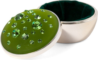 "Peridot Round by Ava Collection - 2""x2"" Green Box"
