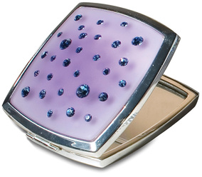 Violet Square Compact Mirror by Ava Collection -