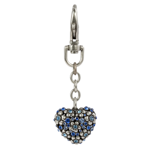 Sapphire by Ava Collection - Heart Key Chain w/Nickel