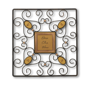 Bless this home by Outdoor Comfort - 12x12 Square Wall Hanging