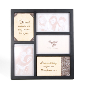 "Friend by Comfort to Go - 10.5""Collage Frame w/Plaques"