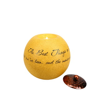 "Best Things in Life by Comfort Candles - 4.5"" Round Candle Holder"