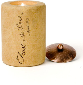 "Trust in the Lord by Comfort Candles - 4"" Cylinder"