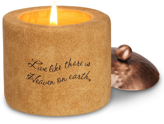 "Heaven On Earth by Comfort Candles - 2.25""Tall Cyl Tea Light Hold"