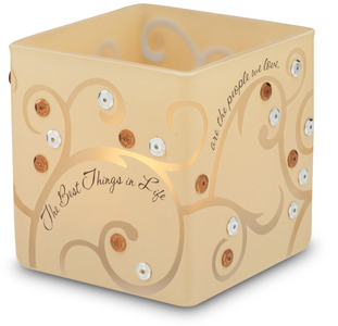 "The Best Things in Life by Comfort Candles - 3.5"" Glass Square"