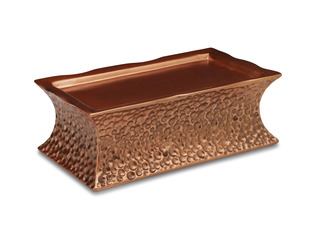 "Rec Hammered Copper Pedestal by Comfort Candles - 7""x2.5"" Candle Stand For CC Wax Candles"