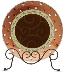 "Family by Comfort Candles - 8"" Glass Round Plate"