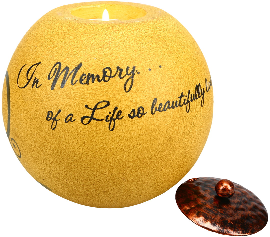 In Memory by Comfort Candles - <em>In Memory</em> - Globe Candle Holder -