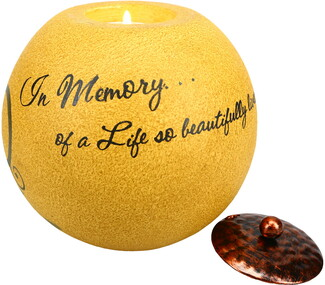 "In Memory by Comfort Candles - 5"" Round Candle Holder"