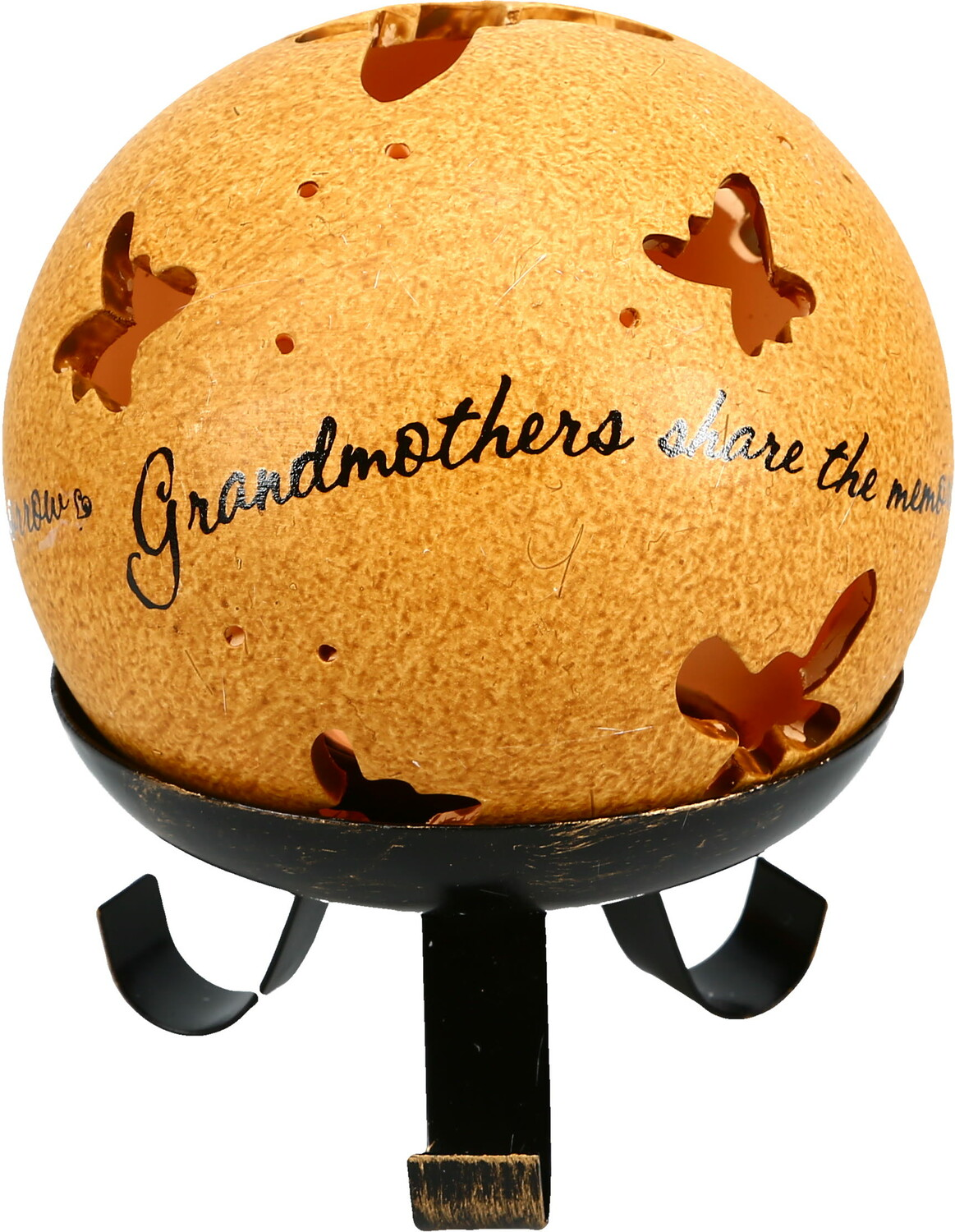 "Grandmothers by Comfort Candles - Grandmothers - 4"" Pierced Round Candle Holder"
