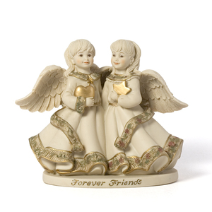 "Forever Friends Angels by Sarah's Angels - 4.5"" Angels w/Heart and Star"