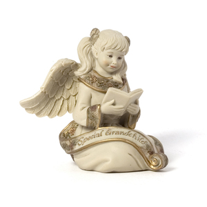 "Special Grandchild Angel by Sarah's Angels - 3.5"" Angel with Book"