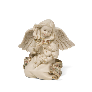 "Angel w/baby by Sarah's Angels - 3.5"" Angel with Baby"
