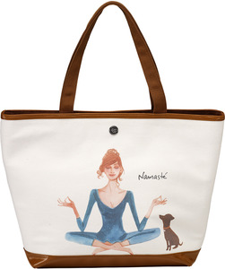 "Namaste by IZAK - 16"" x 12"" Canvas Tote Bag"