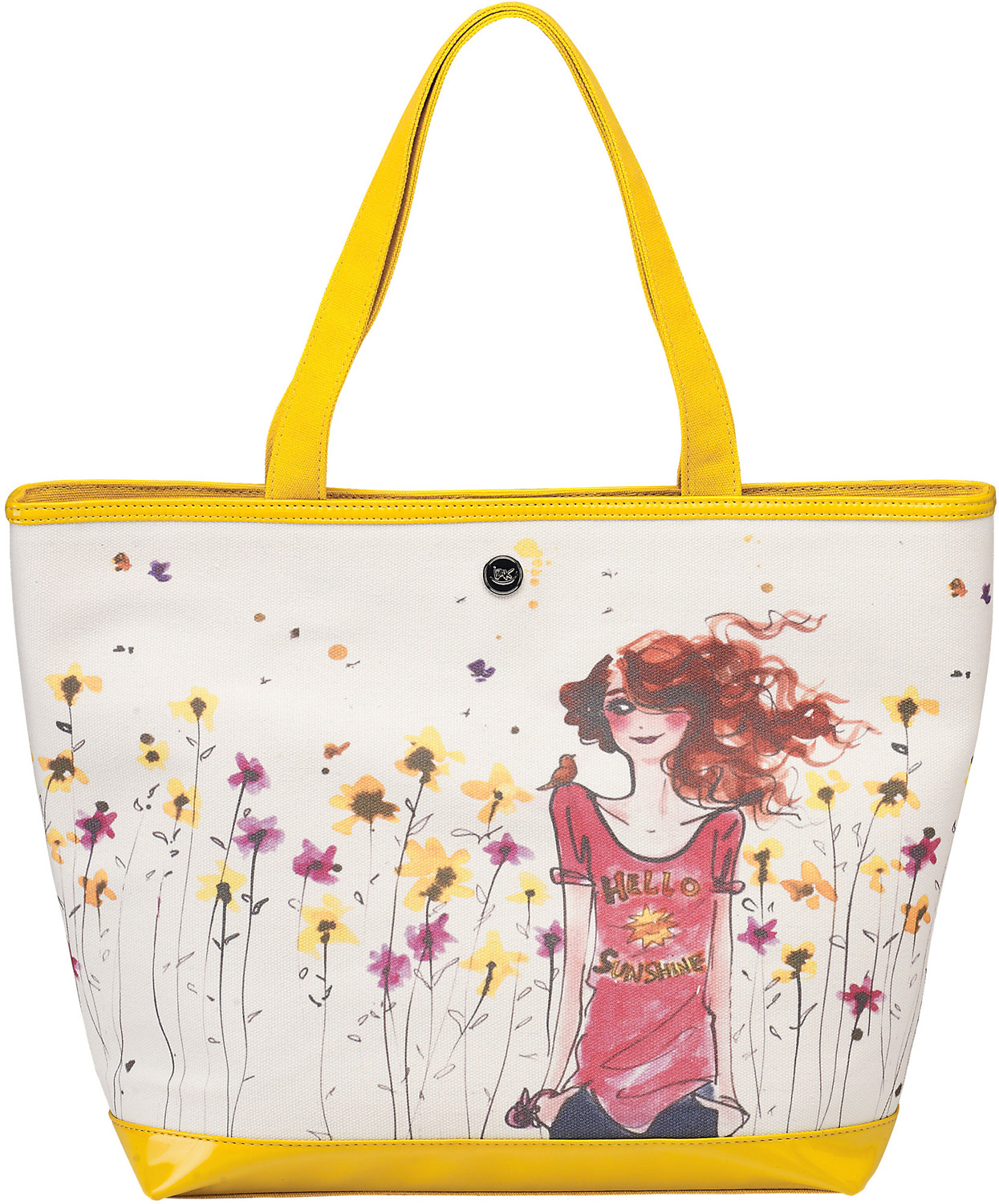 "Hello Sunshine by IZAK - Hello Sunshine - 16"" x 12"" Canvas Tote Bag"