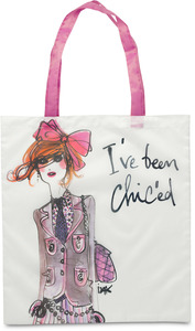 "I've been Chic'ed by IZAK - 17.5 x 16"" Nylon Tote w/Case"