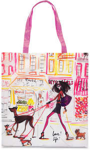 "Love life by IZAK - 17.5 x 16"" Nylon Tote w/Case"
