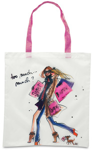 "Too, Much...Much? by IZAK - 17.5 x 16"" Nylon Tote w/Case"