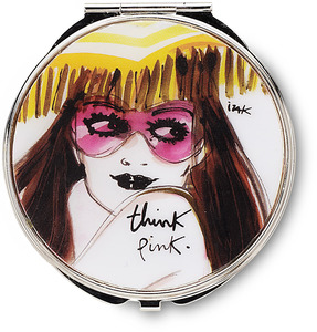 "Think Pink by IZAK - 2.75"" Compact Mirror"