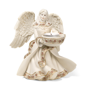 "Angel Tea Light Holder by Sarah's Angels - 7"" Angel Tea Light Holder"