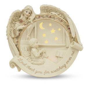"Illuminated Angels by Sarah's Angels - 7"" Plate w/Child Praying"