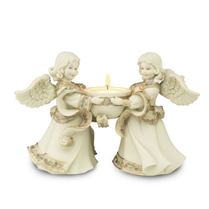 "Friends Tea Light Holder by Sarah's Angels - 5.5"" Angels"