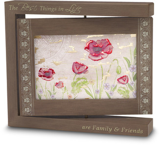 "Best Things -  Photo Frame by Bonita - 8.25"" x 7.25"" Rotating (4"" x 6"") Photo"