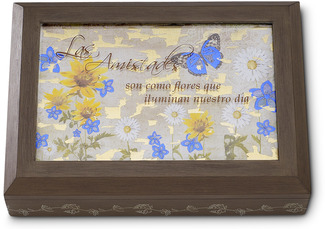 "Las Amistades by Bonita - 7.25"" x 5.25"" Keepsake Box with Spanish Sentiment"