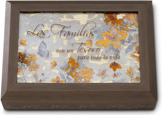 "Las Familias by Bonita - 7.25"" x 5.25"" Keepsake Box with Spanish Sentiment"