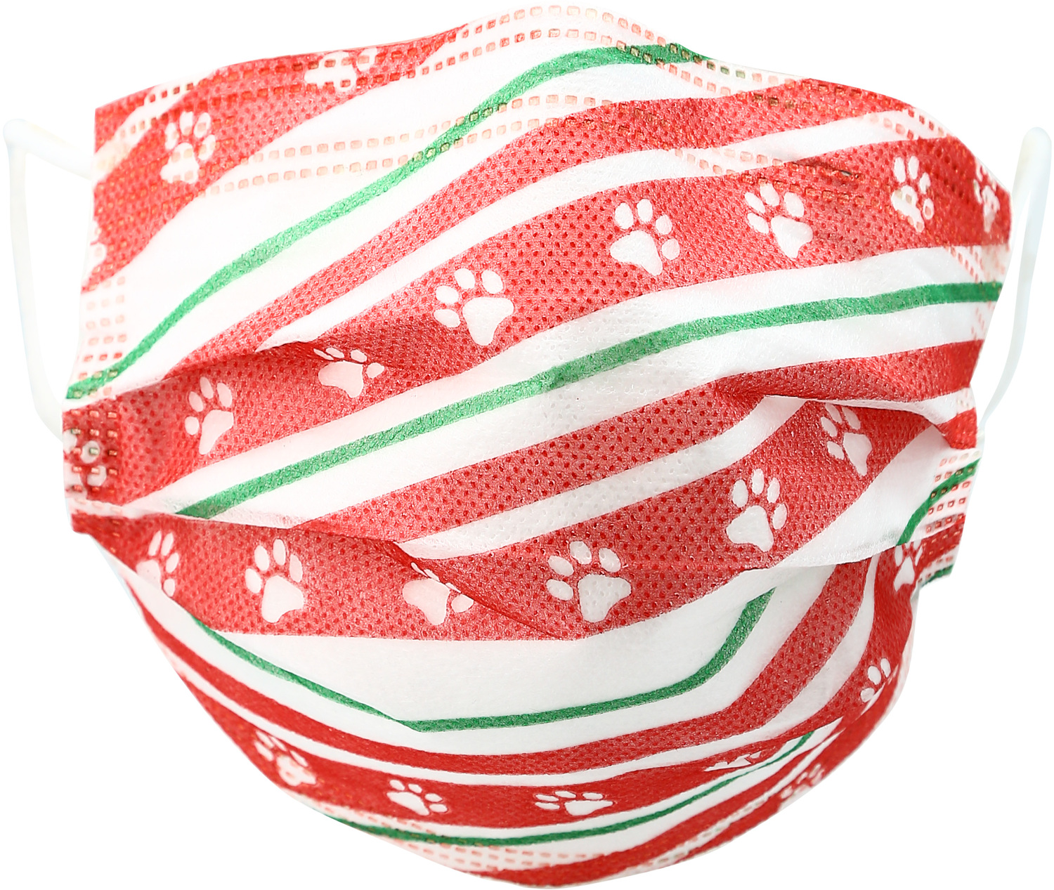Holiday Paws by Pavilion Cares - Holiday Paws - Adult Disposable 3-Layer Face Mask (Set of 7)
