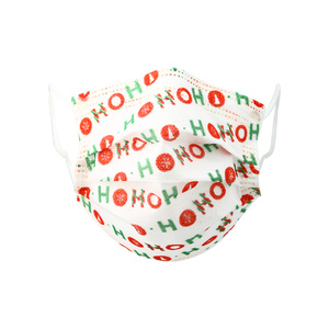 HO HO HO by Pavilion Cares - Kid's Disposable 3-Layer Face Mask (Set of 7)