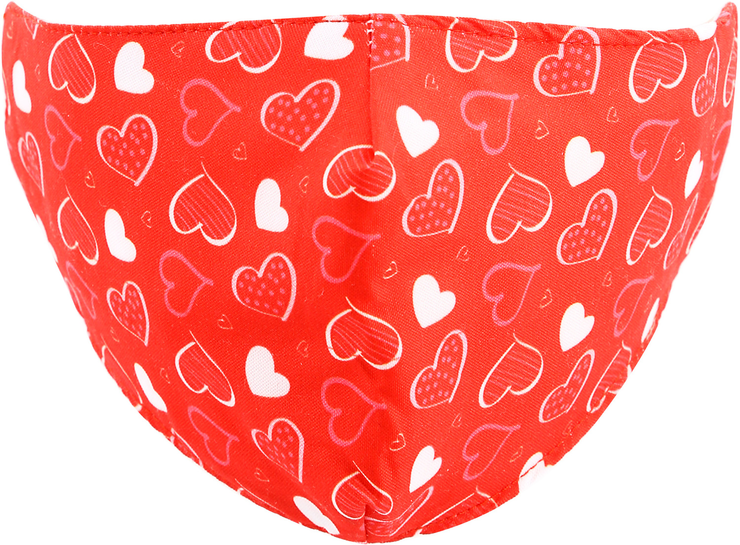 Red Hearts by Pavilion Cares - Red Hearts - Kids Reusable Fabric Mask