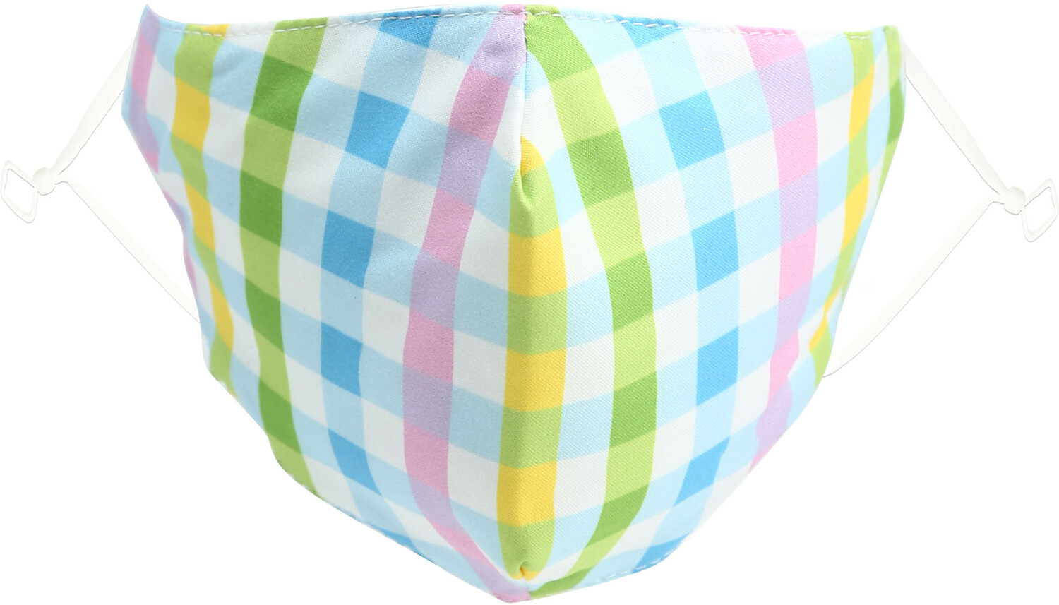 Easter Plaid by Pavilion Cares - Easter Plaid - Adult Reusable Fabric Mask