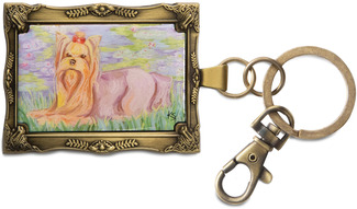 "Yorkshire Terrier - Bonet by Paw Palettes - 2""x 2.75"" Key Chain"