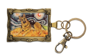 "German Shepherd - Van Growl by Paw Palettes - 2""x 2.75"" Key Chain"