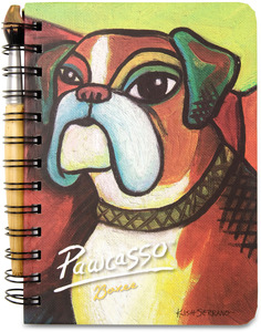 "Boxer Pawcasso by Paw Palettes - 5"" x 7"" Journal & Pen Set"
